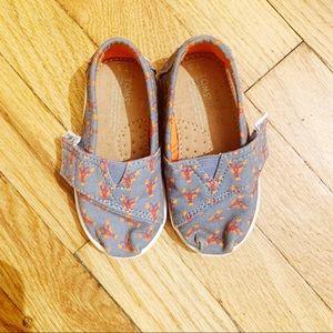 Toms • Toddler, Velcro Lobster Shoes